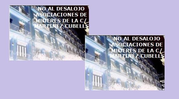 No desalojo Martínez Cubells