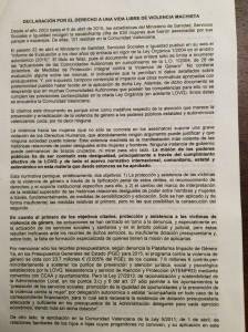 Declaración castellano