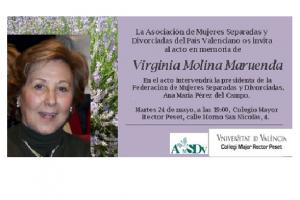Homenaje a Virgina Molina Maruenda